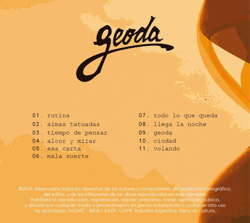 """Arte de Tapa del Disco """"El peso del Tiempo"""" de GEODA 3"""