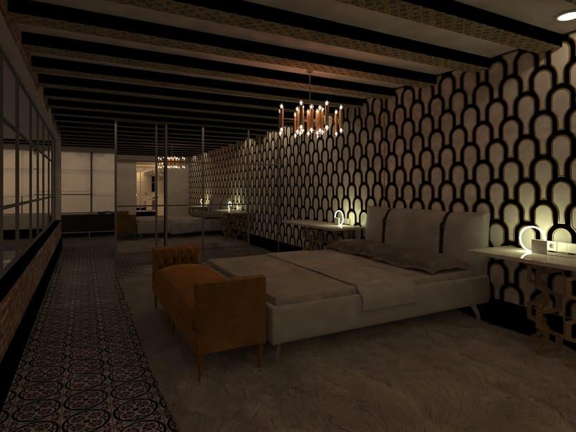 Proyecto realizado en París, al lado del río Sena. Se trata de un proyecto de rehabilitación integral de un loft del 1921, estilo modernista con un aire ecléctico. 3