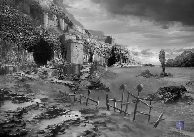 Matte-painting, Viking lands. 2015 0