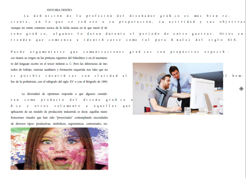 Compaginación de páginas y textos desordenados Indesign Cs5 1