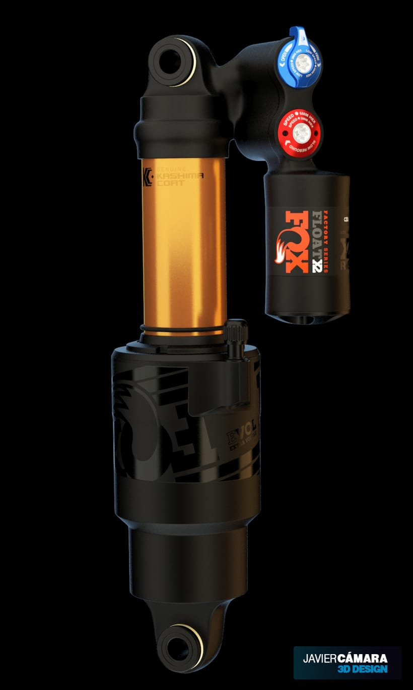3D - Fox Float X2 Bike Shock 1
