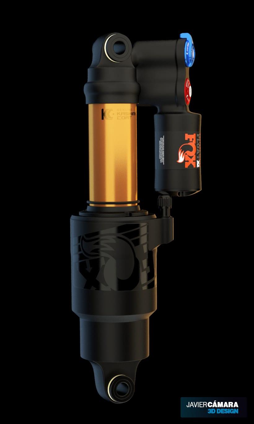 3D - Fox Float X2 Bike Shock 4
