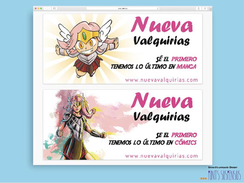 """Banners publicitarios """"Nueva Valquirias"""" -1"""