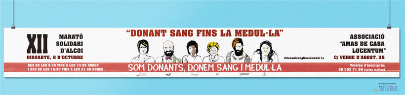 """Campaña maratón solidaria de la ciudad de Alcoi """"Donan't sang fins la medul·la""""  1"""