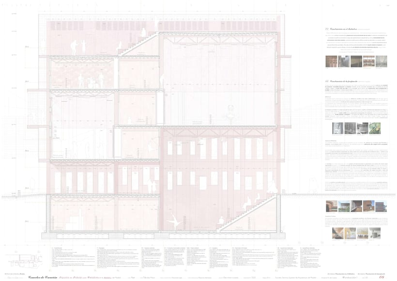 Creation Conector! | Working space for creatives in an old industrial site in Madrid, majoring in sustainable design | ETSAM 2015 | Final architectural thesis 7