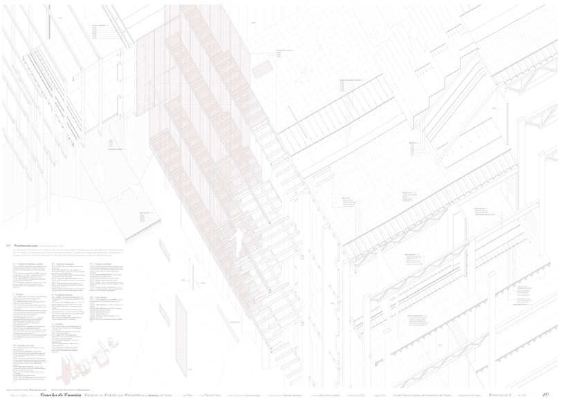 Creation Conector! | Working space for creatives in an old industrial site in Madrid, majoring in sustainable design | ETSAM 2015 | Final architectural thesis 9