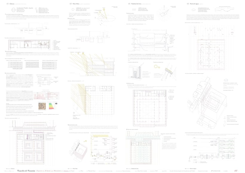 Creation Conector! | Working space for creatives in an old industrial site in Madrid, majoring in sustainable design | ETSAM 2015 | Final architectural thesis 12