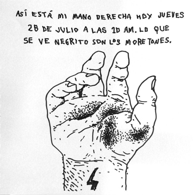 Diario ilustrado de mi mano derecha según la izquierda 2