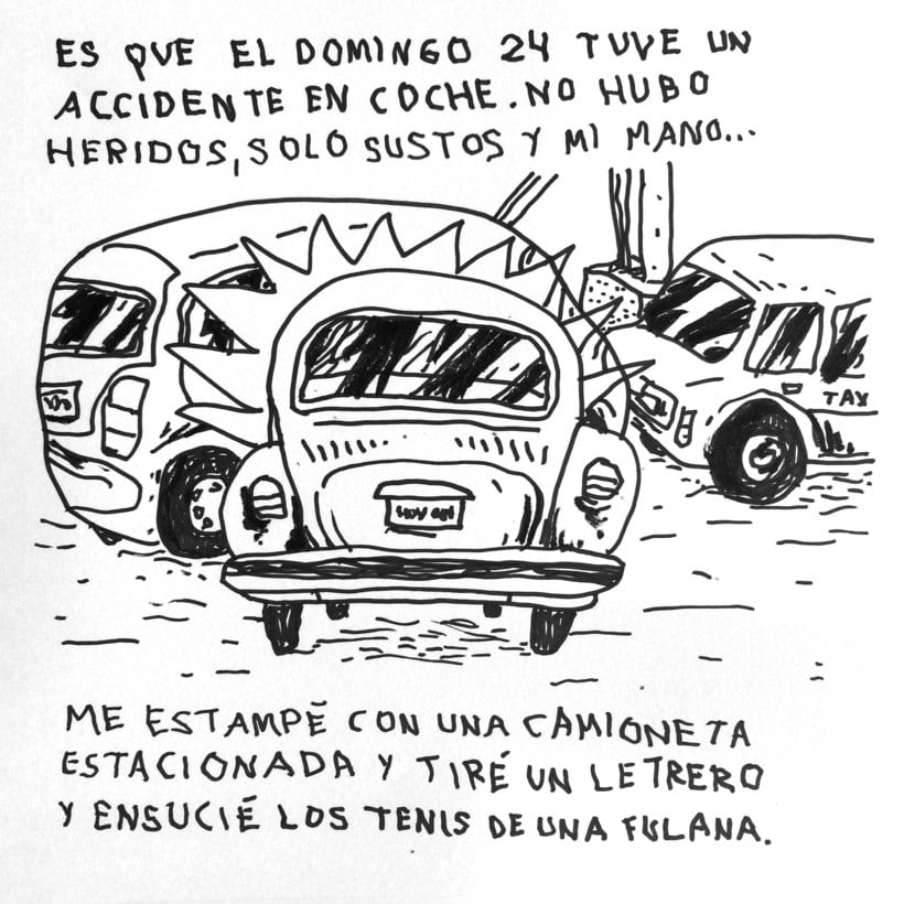 Diario ilustrado de mi mano derecha según la izquierda 3