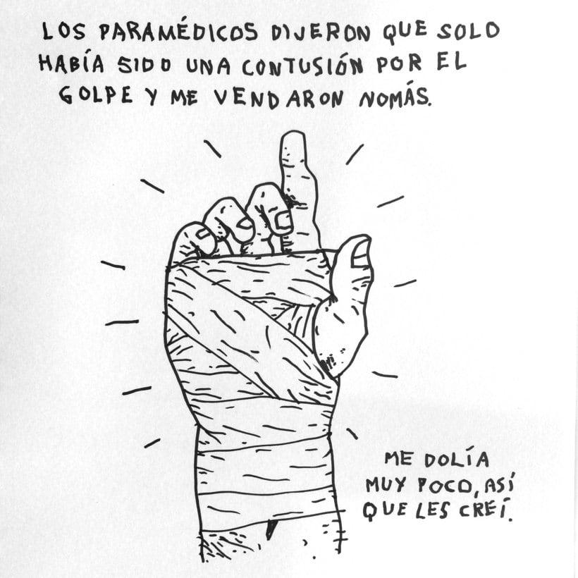 Diario ilustrado de mi mano derecha según la izquierda 4
