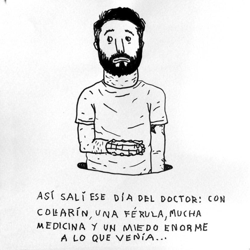 Diario ilustrado de mi mano derecha según la izquierda 6