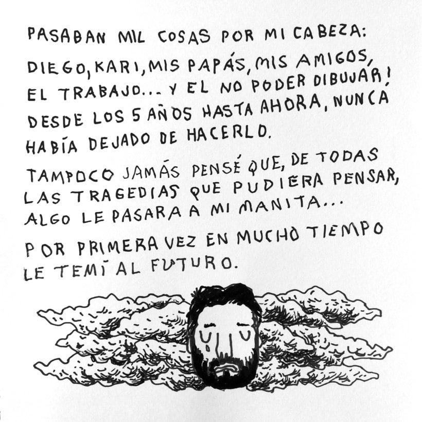 Diario ilustrado de mi mano derecha según la izquierda 7