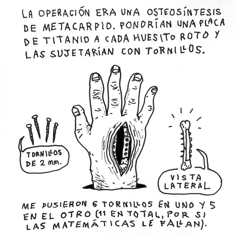 Diario ilustrado de mi mano derecha según la izquierda 11