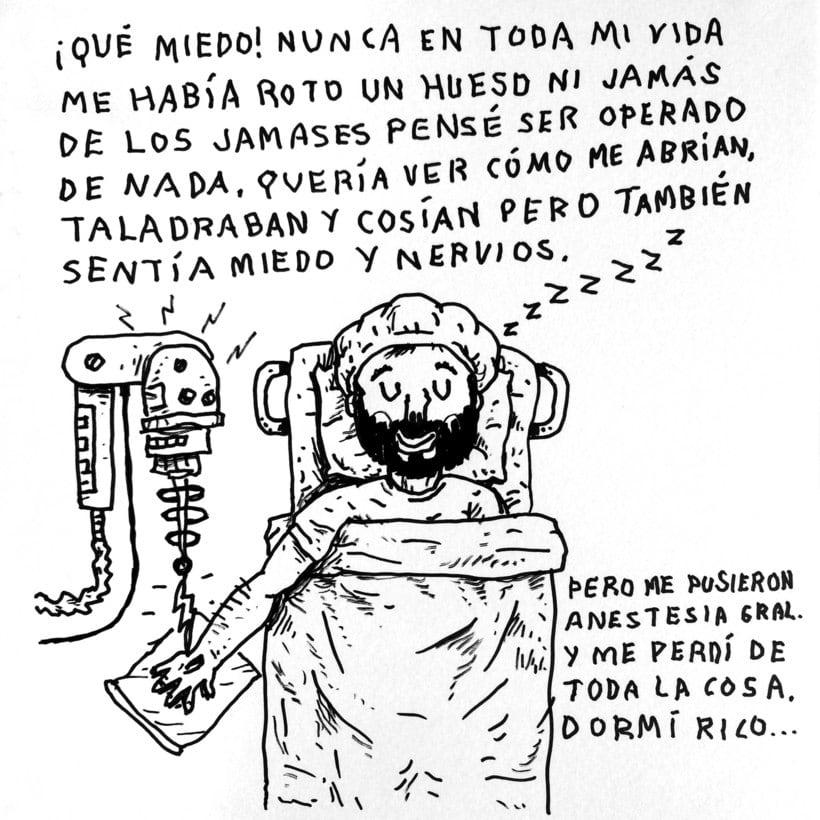 Diario ilustrado de mi mano derecha según la izquierda 13