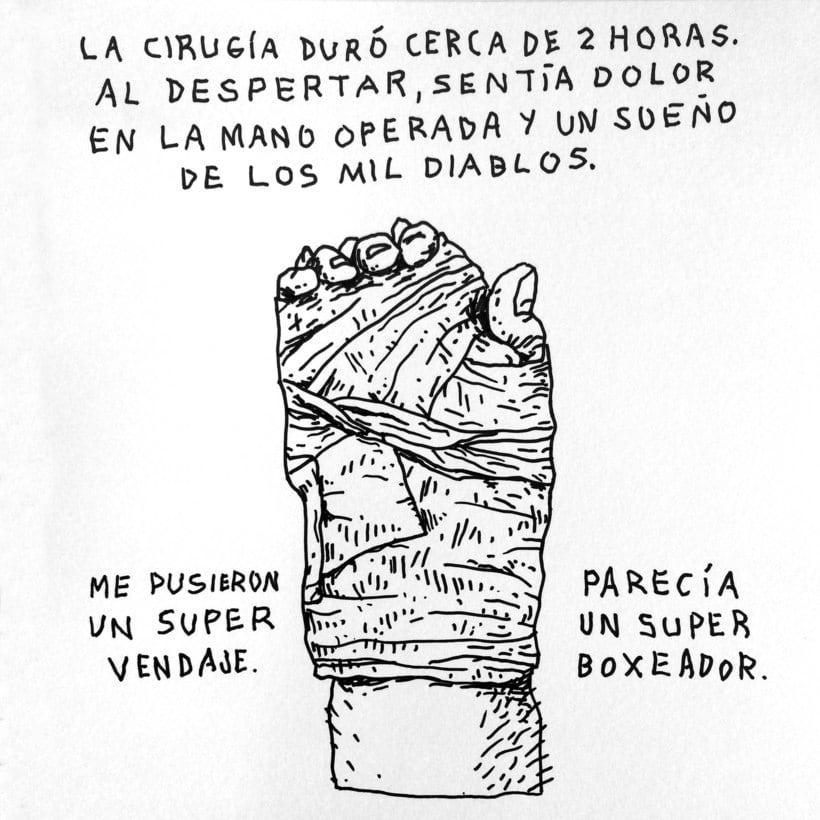 Diario ilustrado de mi mano derecha según la izquierda 14