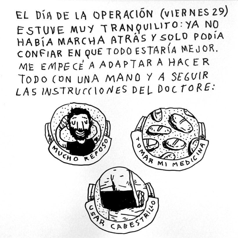 Diario ilustrado de mi mano derecha según la izquierda 15
