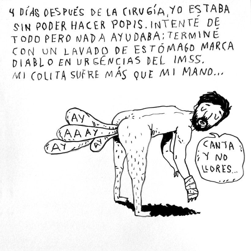 Diario ilustrado de mi mano derecha según la izquierda 17