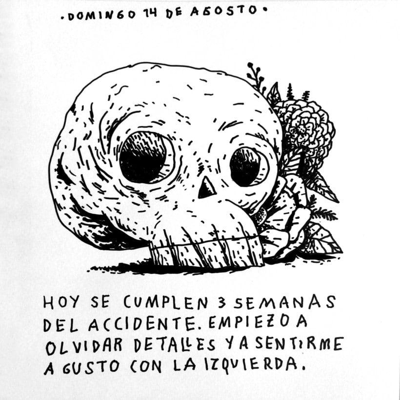 Diario ilustrado de mi mano derecha según la izquierda 20