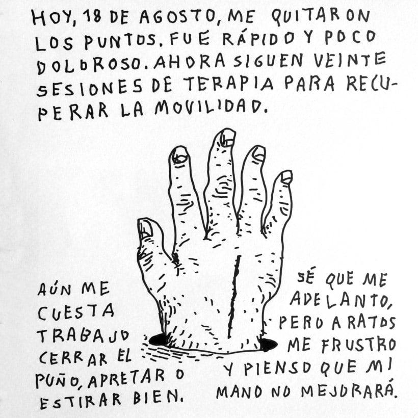 Diario ilustrado de mi mano derecha según la izquierda 21