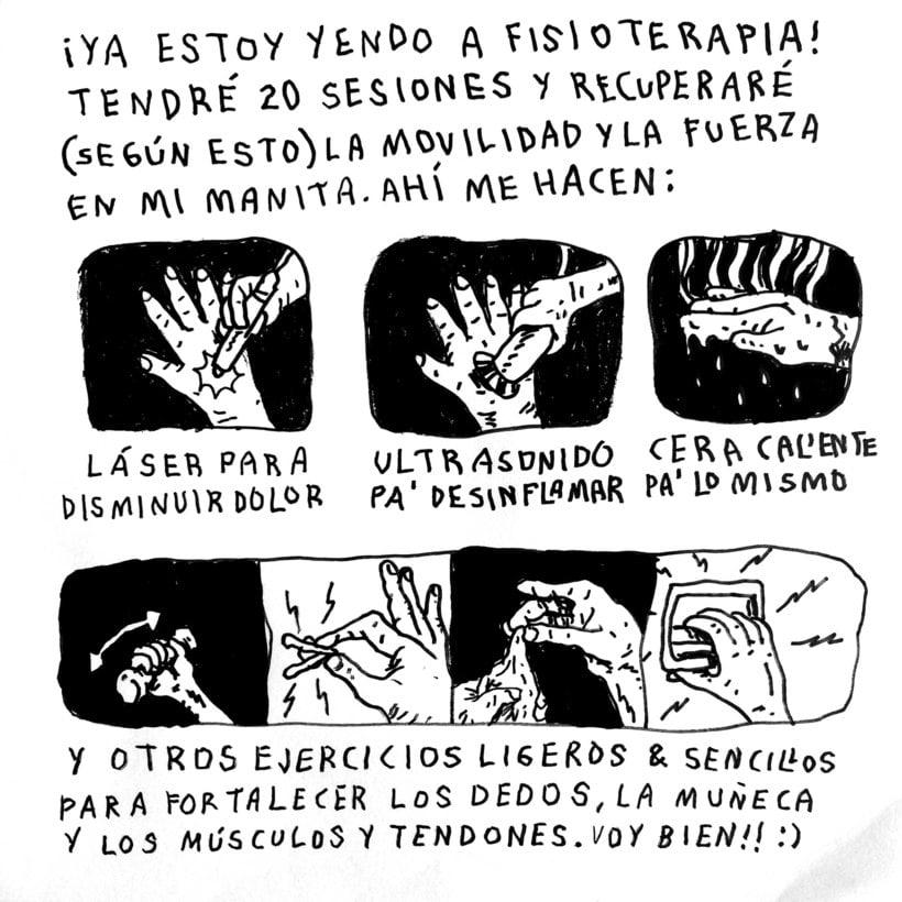 Diario ilustrado de mi mano derecha según la izquierda 25