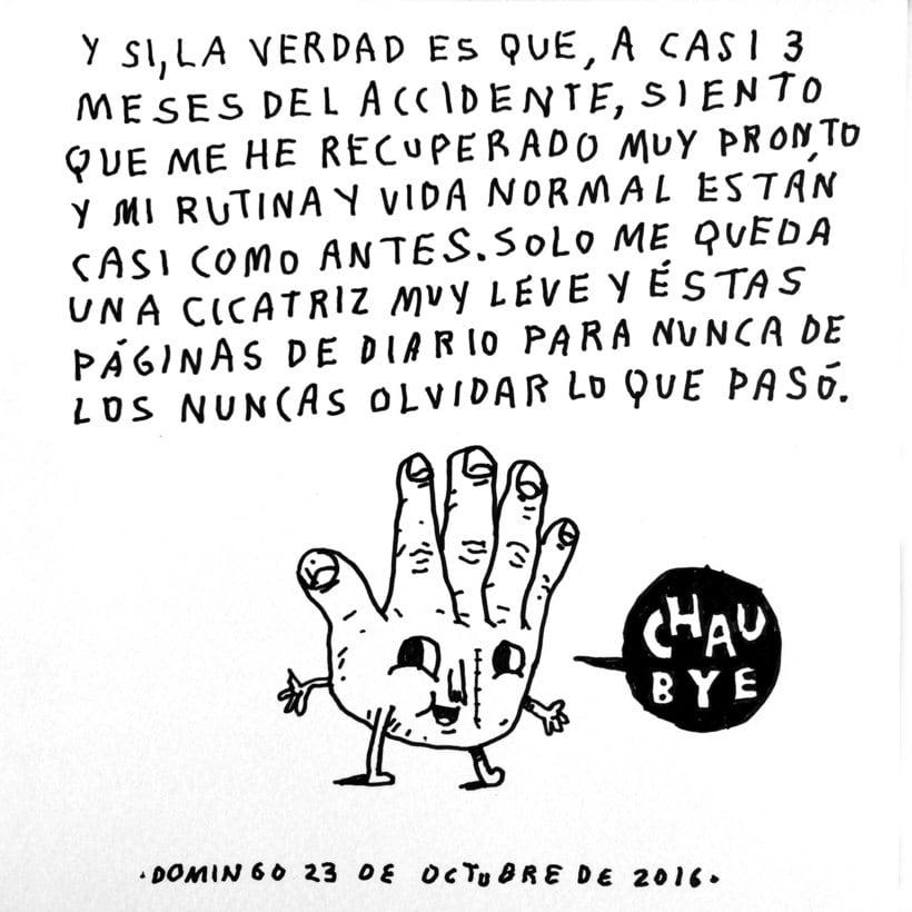 Diario ilustrado de mi mano derecha según la izquierda 28