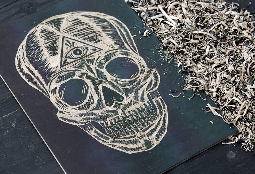 Skull engraved 1