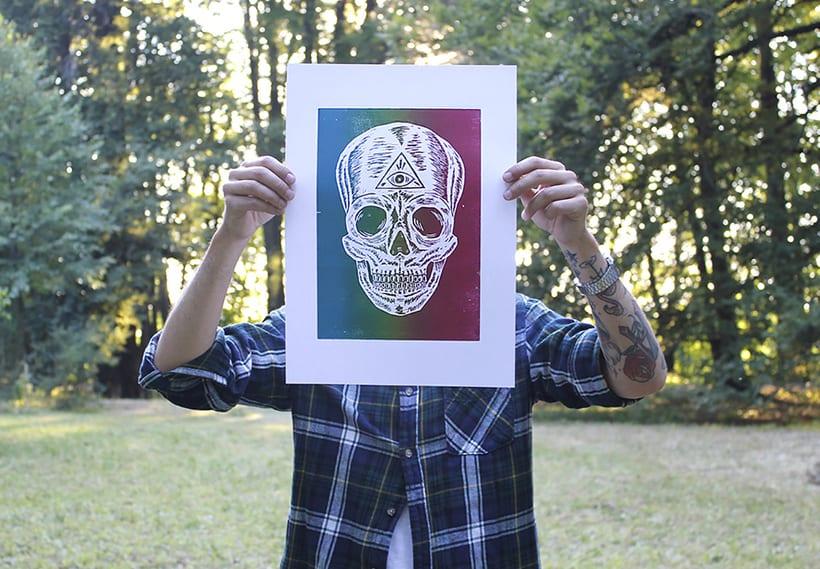 Skull engraved 9