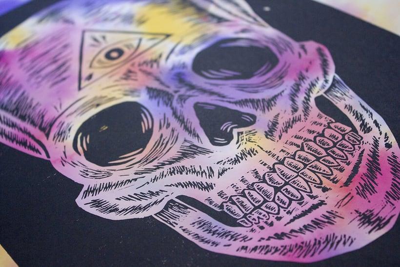 Skull engraved 7