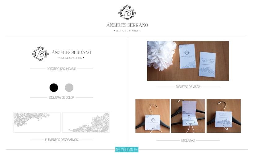 Actualización logo Ángeles Serrano Alta Costura 0
