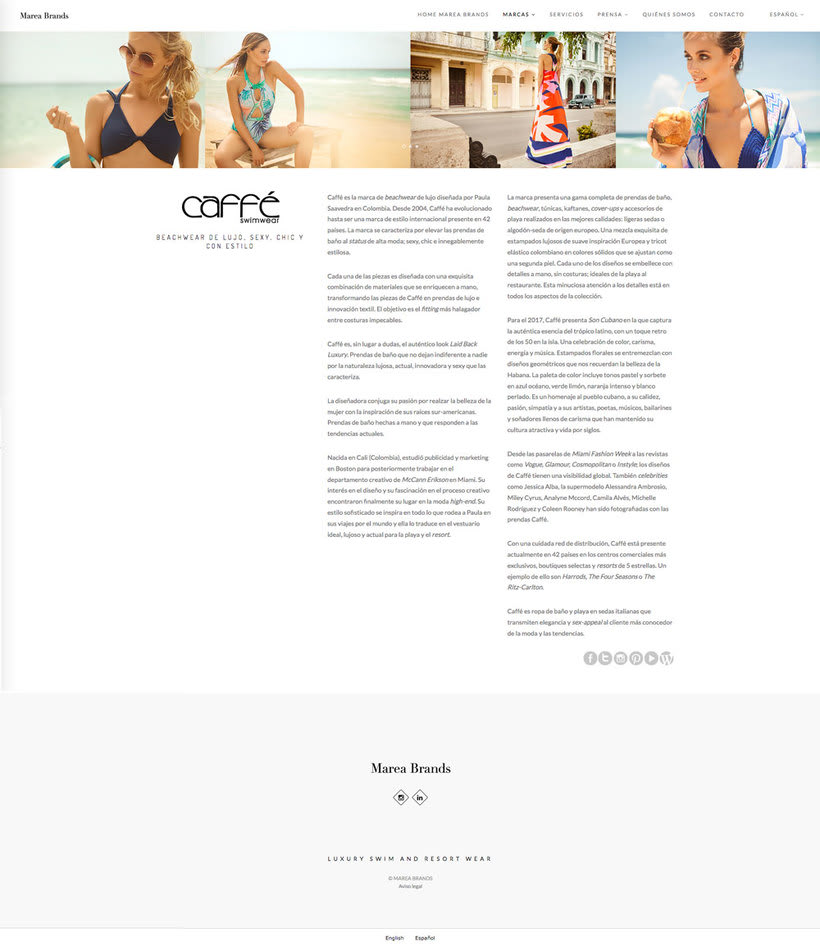Web Desing for Luxury Swimwear Brands 1