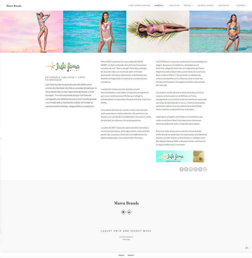 Web Desing for Luxury Swimwear Brands 2