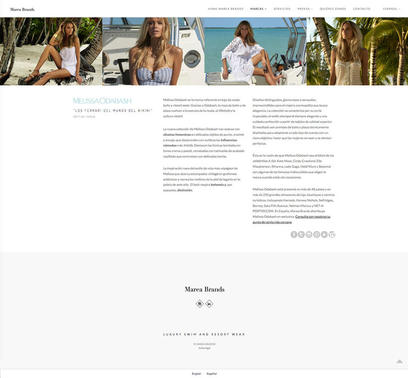 Web Desing for Luxury Swimwear Brands 3