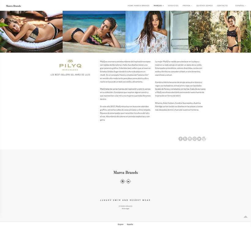 Web Desing for Luxury Swimwear Brands 4