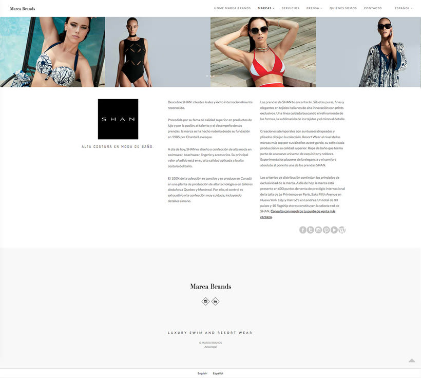 Web Desing for Luxury Swimwear Brands 5