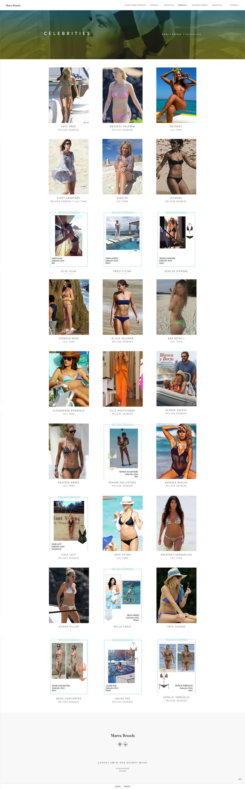 Web Desing for Luxury Swimwear Brands 9