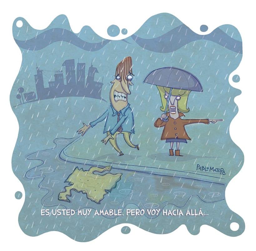 Gentleman under the rain. 0