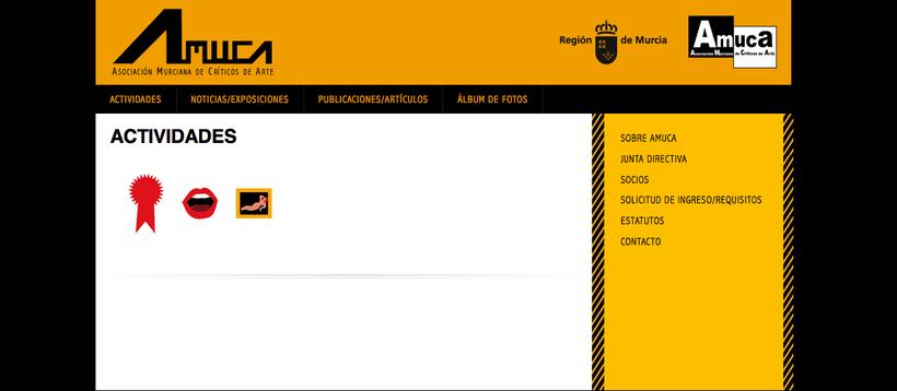 web AMUCA, Asociación Murciana de Críticos de Arte 0