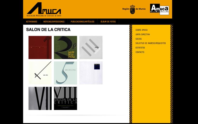 web AMUCA, Asociación Murciana de Críticos de Arte 1