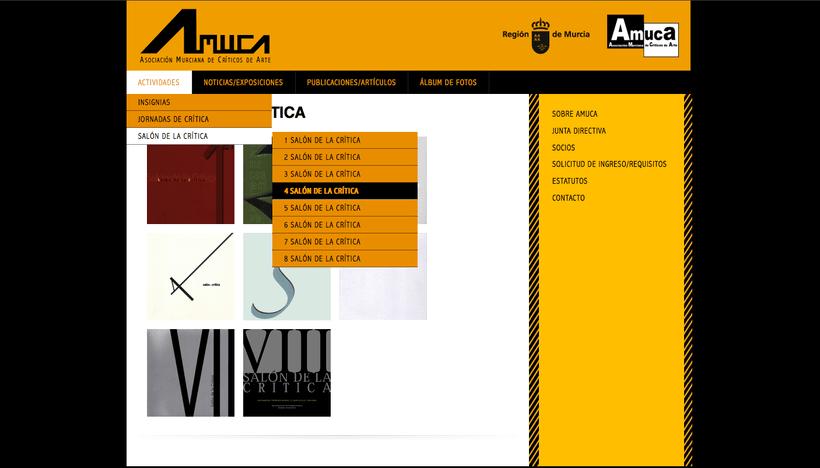 web AMUCA, Asociación Murciana de Críticos de Arte 2