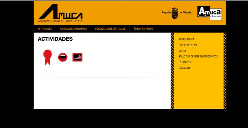 web AMUCA, Asociación Murciana de Críticos de Arte 3