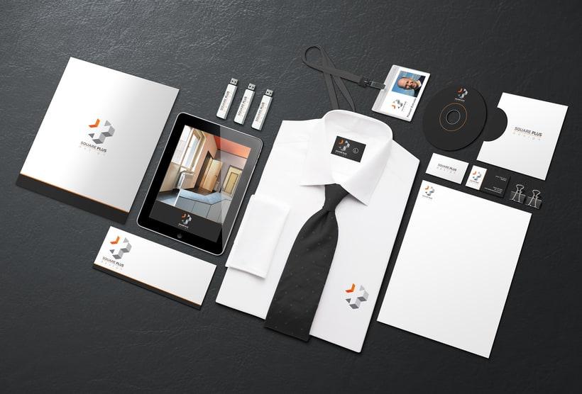 Diseño del logo para Square Plus / Diseño de interiores 6