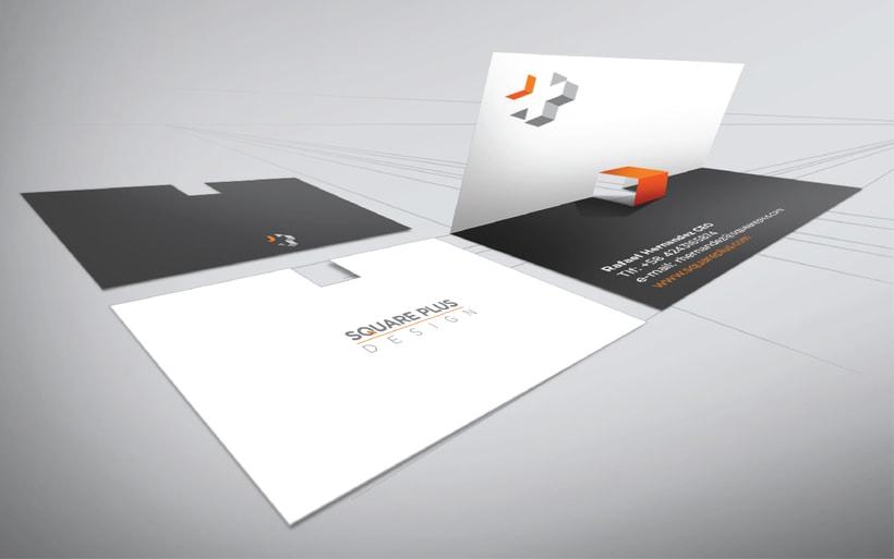 Diseño del logo para Square Plus / Diseño de interiores 4