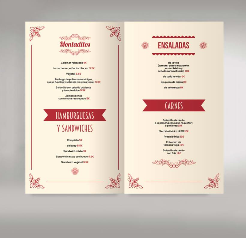 Carta restaurante 1