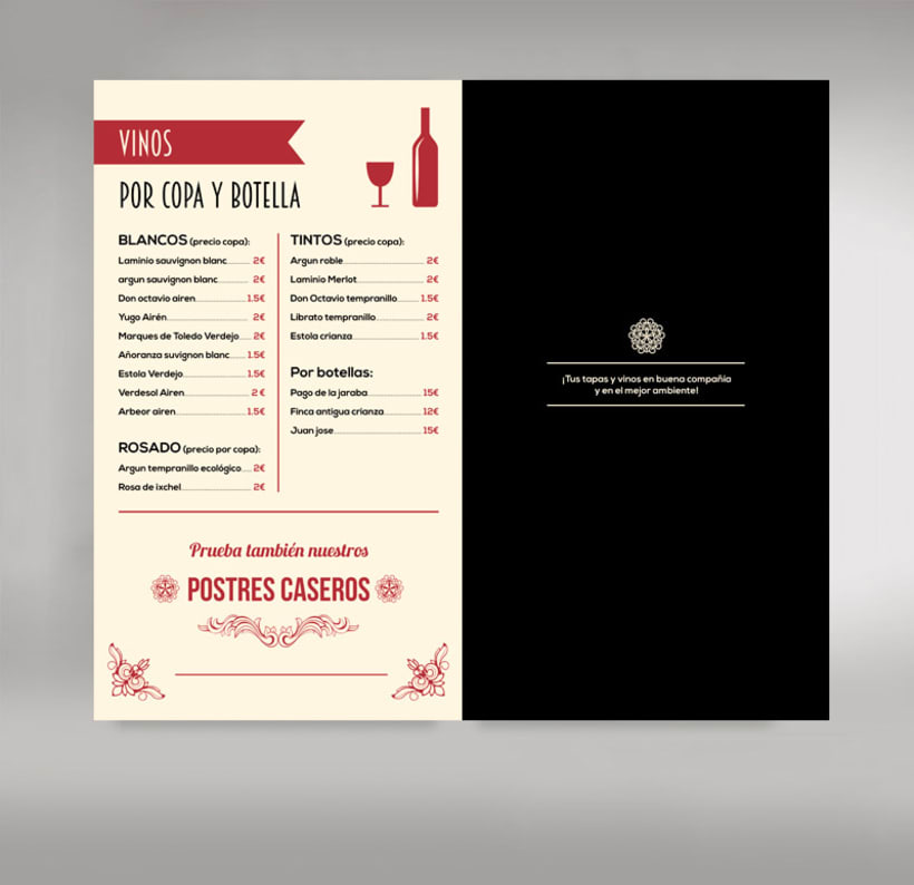 Carta restaurante 2
