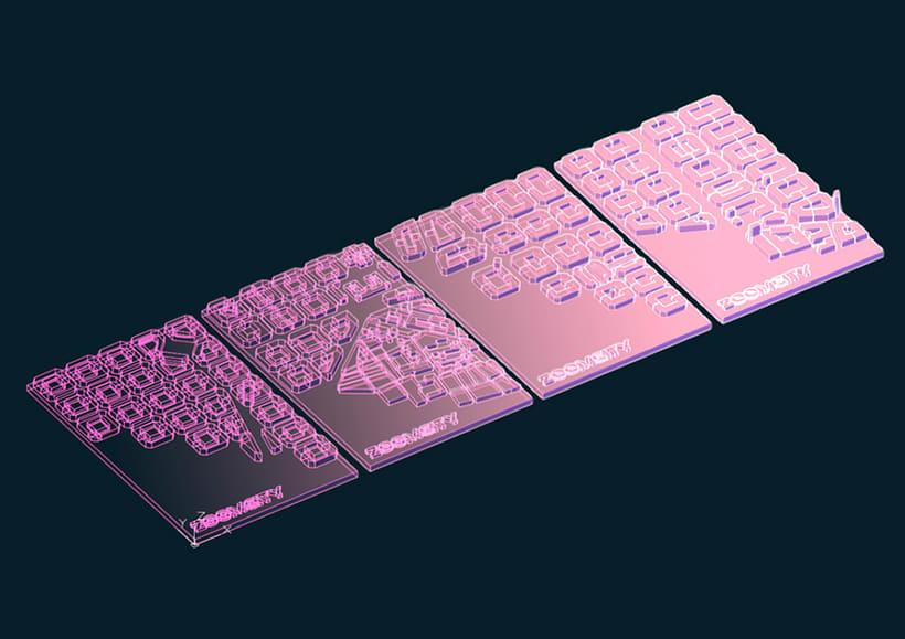 3D Printing Tarjetas ZoomCity 3