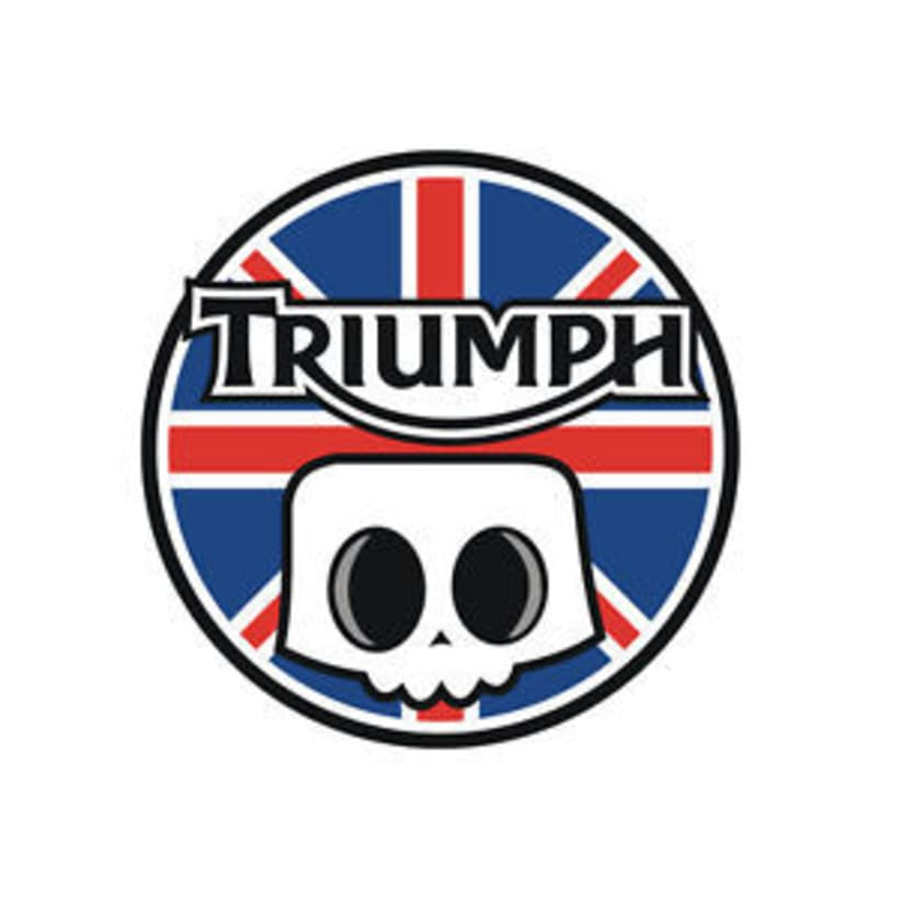 Logotipo Triumph pintumoto  0