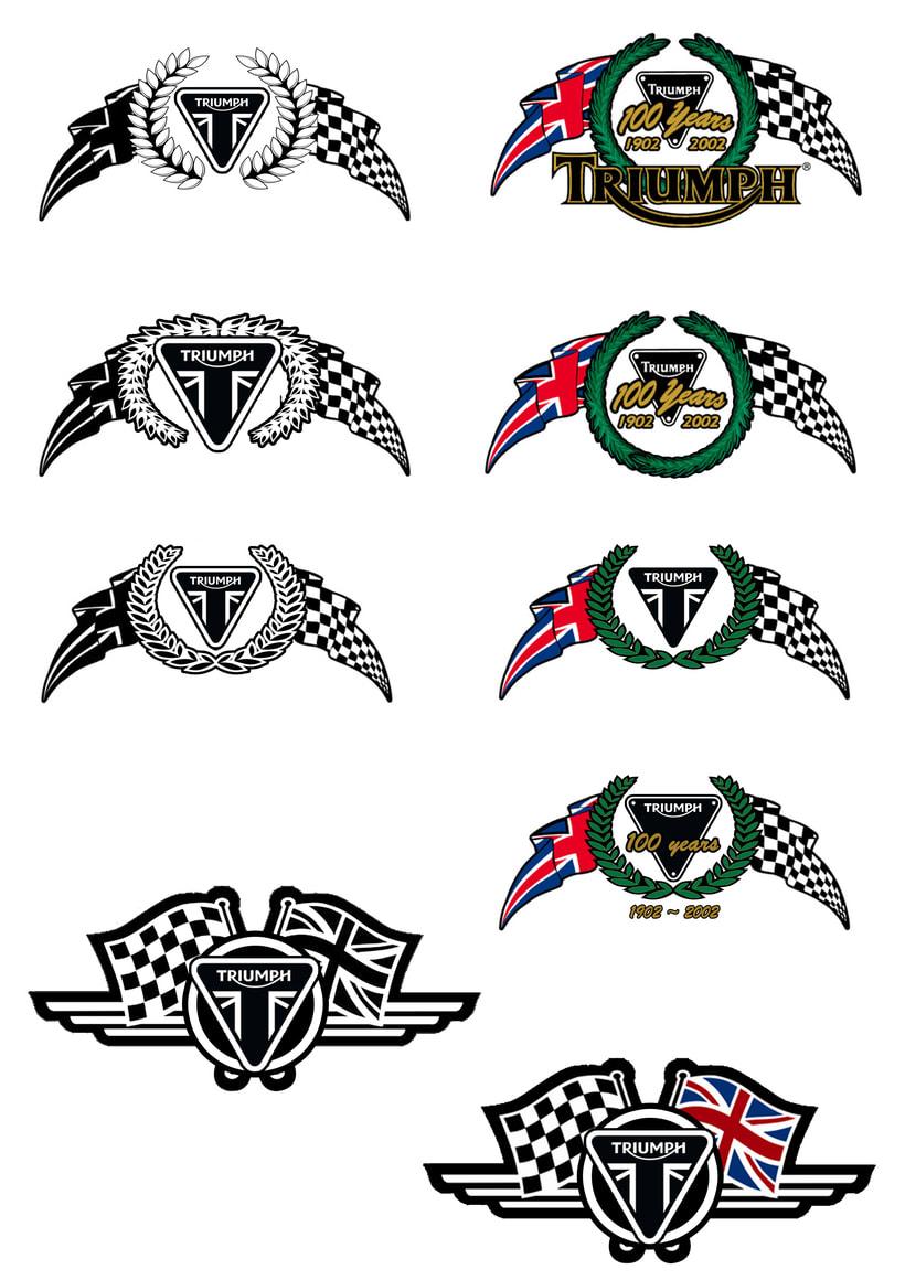 Logotipo Triumph pintumoto  3