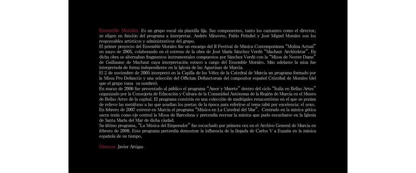 Dípticos del ciclo de conciertos Archivo Sonoro /Música Antigua 0