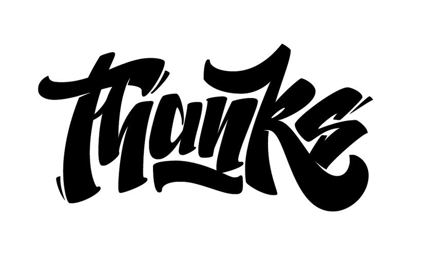 """Thanks"" lettering 0"