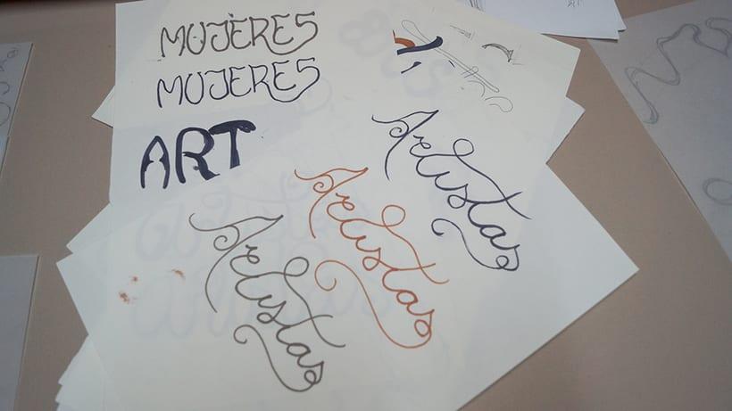 Mi Proyecto del curso 'Lettering': Mujeres Artistas 1